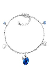 beautiful teensy dangle blue anklet for babies and kids