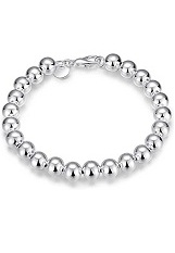 beautiful round beads sterling silver baby bracelet