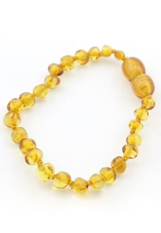 lovely small lemon barouque baltic amber baby teething bracelet