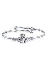 very nice expandable silver baby bangle