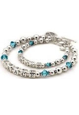 superb little blue topaz bracelet for mothers and daughters