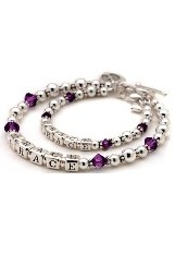 stunning tiny amethyst crystal mother daughter bracelets