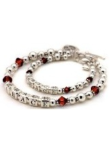 extraordinary small July personalized birthstone bracelet for mothers and daughters