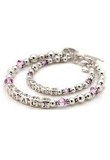 superb tiny June birthstone bracelet for mothers and daughters