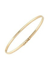 very nice small high polished gold baby bracelet