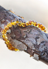 beautiful purely natural amber teething bracelet for babies