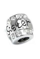 beautiful tiny sister CZ pandora baby charm