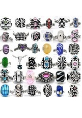 superb small rhinestones bead pandora charm for babies
