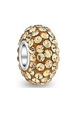 superb little silver gold tone pandora baby charm