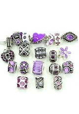 catchy mini purple crystal pandora baby charm