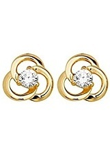 adorable tiny yellow gold baby stud earrings