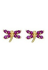 terrific small deep pink gold earrings for babies