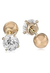 lovely little Reversible Cubic Zirconia stud baby earrings