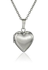 delightful tiny hand engraved heart silver baby necklace