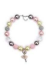 magnificent tiny faux pearl charm necklace for babies