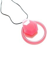 lovely small chewable necklace with hexagon slide