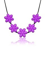 remarkable little flower chewable silicone necklace