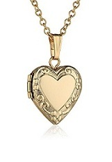 exquisite tiny embossed heart gold necklace for babies and kids