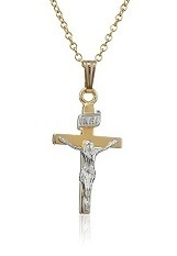 adorable small 14k gold cross necklace for babies