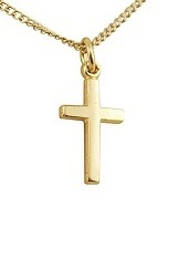 marvelous tiny gold/sterling silver baby cross necklace