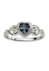 superb little cz silver birthstone ring for babies