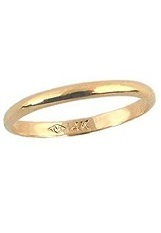 terrific tiny first band gold ring for babies