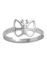 extraordinary mini butterfly baby ring