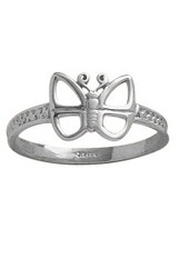 delightful tiny butterfly white gold baby ring
