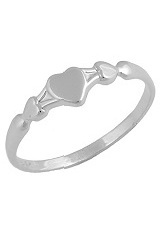 stunning little heart white gold ring for babies