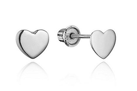 extraordinary tiny gold heart baby earrings