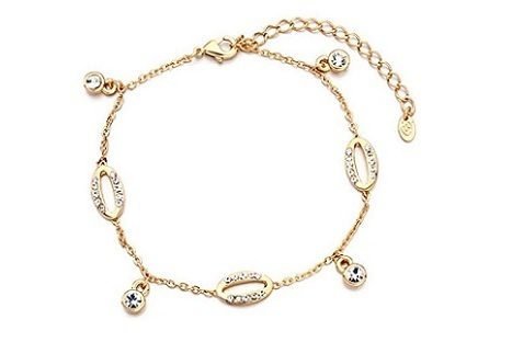 alluring tiny clear synthetic crystal baby anklet