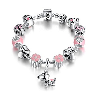 gorgeous baby jewelry - tiny sterling silver charm bracelet