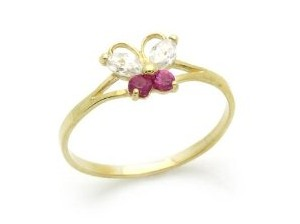 beautiful baby jewelry- a little butterfly baby ring