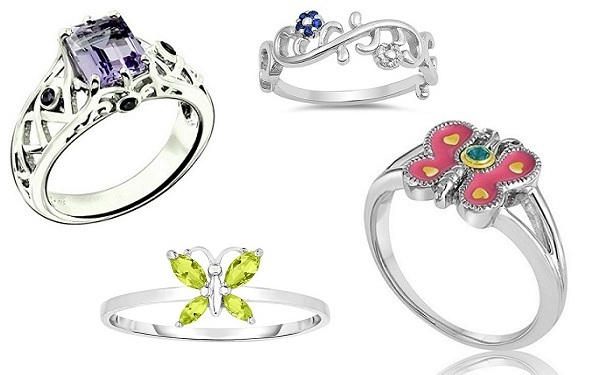 baby birthstone rings