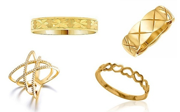gold baby rings