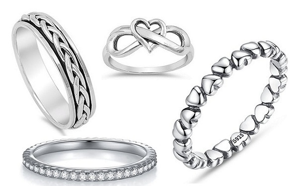 silver baby rings